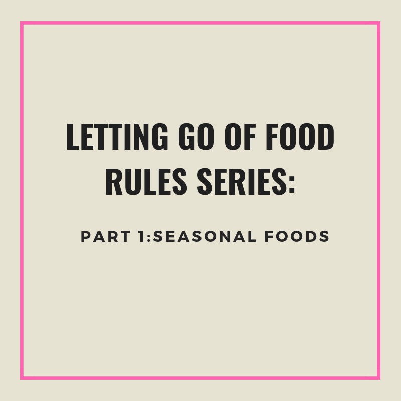 Letting Go of Food rules